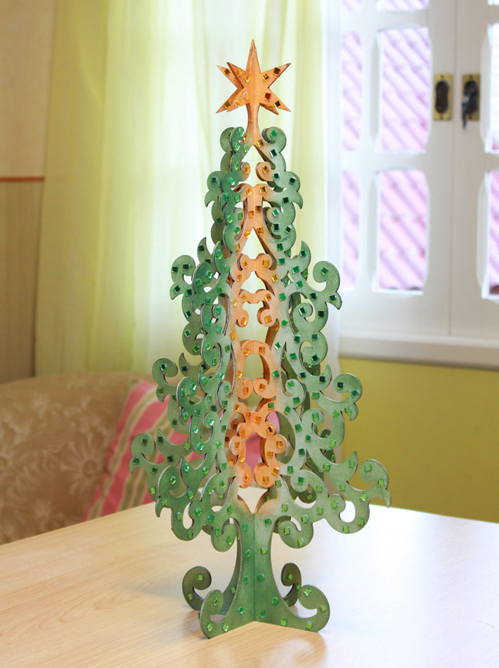 árvore De Natal Com Arabescos Iára Capraro